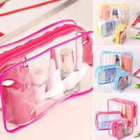 Women Clear Makeup Bag Travel PVC Cosmetic Bag Organizer Tote Handbags Case