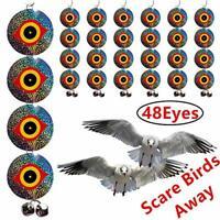 Bird Repellent Discs – Scare Birds Away 48pcs Bird Scarer Eyes Double 9cm round