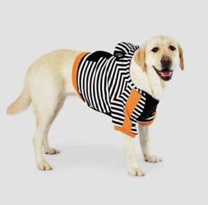 Stripe Halloween Dog and Cat Cropped Hoodie - Hyde & EEK! Boutique™ Size M