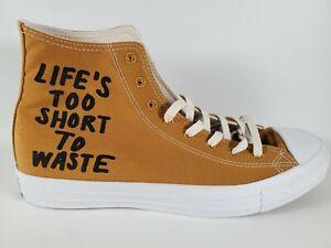 Converse Chuck Taylor All Star Renew Mustard HI top Shoes 164918C men's 9.5
