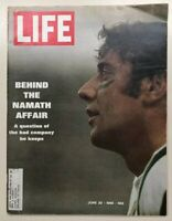 Vintage LIFE (Issue June 20th, 1969) Acc / Good Pre Owned Cond Joe Namath Affair