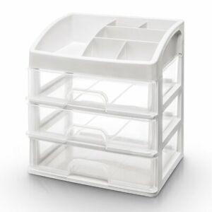 Make up Organizer Schminkaufbewahrung mit 3 Schubladen Kosmetik Storage Box