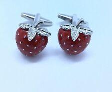 Red Strawberry Design Cufflinks