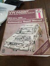Haynes 1975-1991 VW Rabbit Golf Jetta Scirocco Pickup Automotive Repair Manual