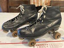 Vtg Chicago Roller Skate Co Ware Bros Roller Skates Hyde Shoe Company USA 10 Men