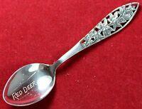 Red Deer Alberta Canada Souvenir Spoon - Sterling Silver - Vintage