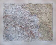1889 Schlesien Deutschland - alte Landkarte Karte old map