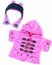 Teddy  Bear Clothes fit Build a Bear Teddies Candy Duffel Coat With Paw HAT