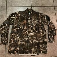 Whitewater Outdoors Ducks Unlimited Mens L Hunting Up Shirt Front Pocket