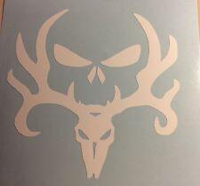 Deer Skull Vinyl Decal White Bow Hunter Hunting