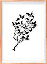 Tree Branch A4 Mylar Reusable Stencil Airbrush Painting Art Craft DIY