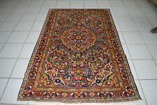 """um 1900 antiker Perserteppich Orientteppich original """"Sarough"""" 196x130 cm"""