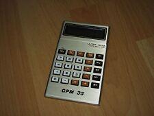 Taschenrechner GPM 35 Ultra Slim Rechner Calculator 70er Jahre top Zustand