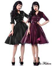 Festliche knielange Damenkleider im 50er-Jahre-Stil