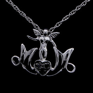 """Diamond Accents Sterling Silver Mom Pendant 18"""" Necklace"""