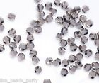 50pcs 6mm Twist Helix Glass Crystal Findings Loose Spacer Beads Silver Plated