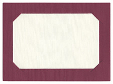 "Lifestyle Craft/Quickutz CC-SHAPE-048-2 ""Placecard""   2 Cutting Dies  3.5""x2.5"""