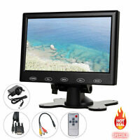 7 inch TFT LCD CCTV Security Monitor Display HD TV AV VGA HDMI 1080P For PC POS