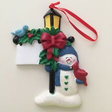 Christmas Ornament *  Lamp Post w/ Snowman * OC-127 * NWT *