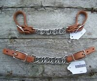Curb - Harness Leather with Flat Stainless Steel Chain by Schutz Brothers