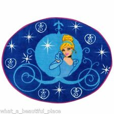 Disney Cinderella Room Accent Rug Girl's Bedroom Bathroom Princess Nursery Blue