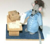 Artist Felt Mouse Mailman Doll by Dolls N Things No 279