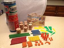 Vintage Tinkertoy Tinker Toy JR. Architect Questor 1972 W/ Instruction Book