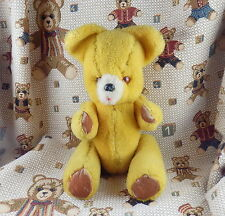 OURS ANCIEN MIMOSA OURS VINTAGE  JAUNE    H 32 cm