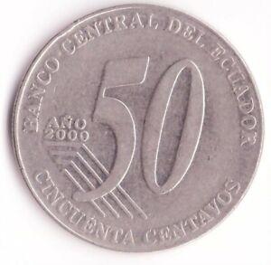 50 Centavos 2000 Ecuador Coin KM#108 - Eloy Alfaro