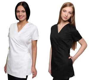 Shakina Cotton Beautician Salon Hairdressing SPA Therapist Massage Tunic Uniform