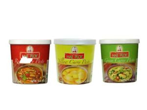 Thailand Authentic Yellow Red or Green Curry Paste by Mae Ploy 14 oz