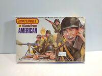 MATCHBOX 1/32 SCALE 15 AMERICAN COMBAT TROOPS 1976 VINTAGE SET NIOB