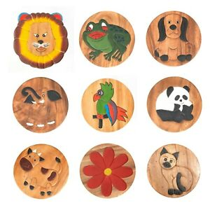 Assorted Fairtrade Painted Child's Kids Children Painted Novelty Wooden Stool 1