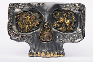 """Belt Buckle """" SKULL'' Unique work by the author"""
