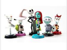 The Nightmare Before Christmas Barrel Jack Skellington Pvc Figure Model Toy 6pcs
