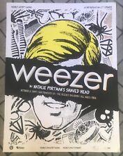 Weezer 2009 24 x18 Ltd Edition Concert Poster Myspace Free Show Not Cd T-Shirt
