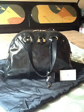 100% AUTHENTIC!!!  YSL  Yves Saint Laurent Muse Black Patent Leather Muse Bag