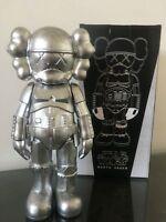 Kaws Star War Black Stormtrooper 25cm Action Figure With Original Box Silver