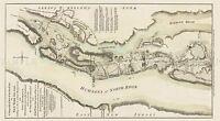 MAP ANTIQUE MILITARY 1777 SAUTHIER BATTLE FORT WASHINGTON REPLICA PRINT PAM2050