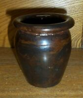 Small / Miniature Redware Pottery Crock - Stahl - 1976