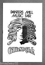 """Stephen Schwartz """"GODSPELL"""" David Byrd Art 1975 Owings Mill, Maryland Playbill"""