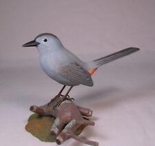 Gray Catbird Original Bird Wood Carving/Birdhug