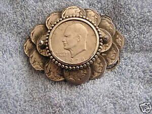 Liberty Dollar Belt Buckle Indian Head Nickels Nickel Great American Buckle 1984