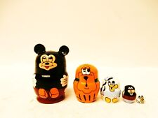 """Alkota Genuine Russian Collectible Miniature Nesting Doll """"Mickey Mouse"""", 1.1"""""""