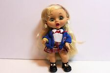 "Cute Playmates Little Cousins Doll ""Sara Schoolgirl"" (Dated 2002) MINT"