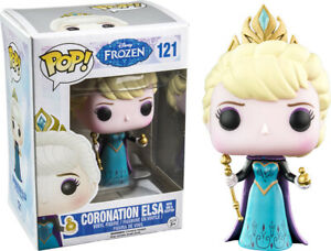 Frozen Coronation Elsa #121 with orb & scepter Rare Funko POP! vinyl damaged box