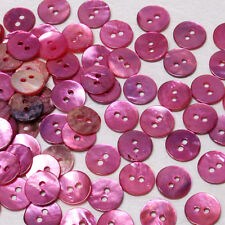 MB566 Hot Pink Mother of Pearl Round Shell Buttons Sewing Craft DIY 10mm 100pcs