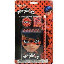Miraculous Ladybug 4Pc Study Kit Kids School Pencil Set
