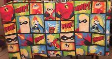 VGUC- Pixar The Incredibles Twin Comforter blanket disney bedding super hero bed