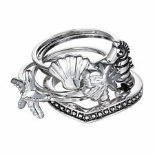 Punk 5 Pcs/set Ocean Joint Knuckle Ring Starfish Hippocampus Shell Rings Tree